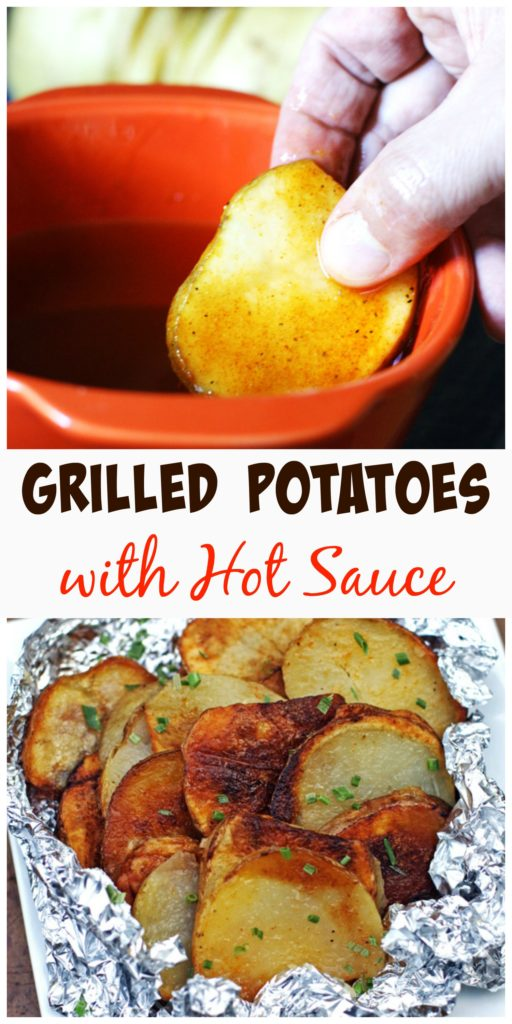 Grilled Potatoes with Hot Sauce