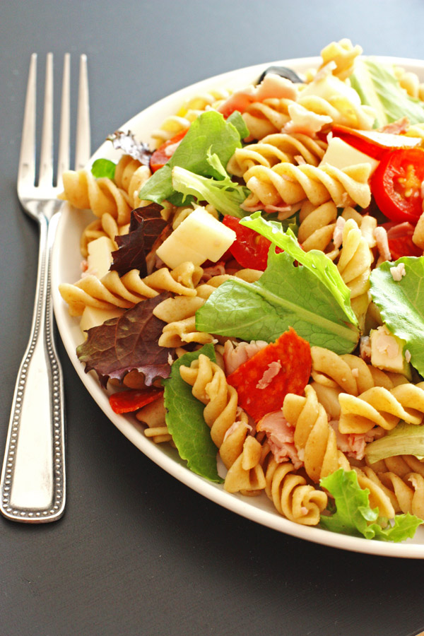 Antipasto, pasta, salad, quick and easy, recipe, dinner