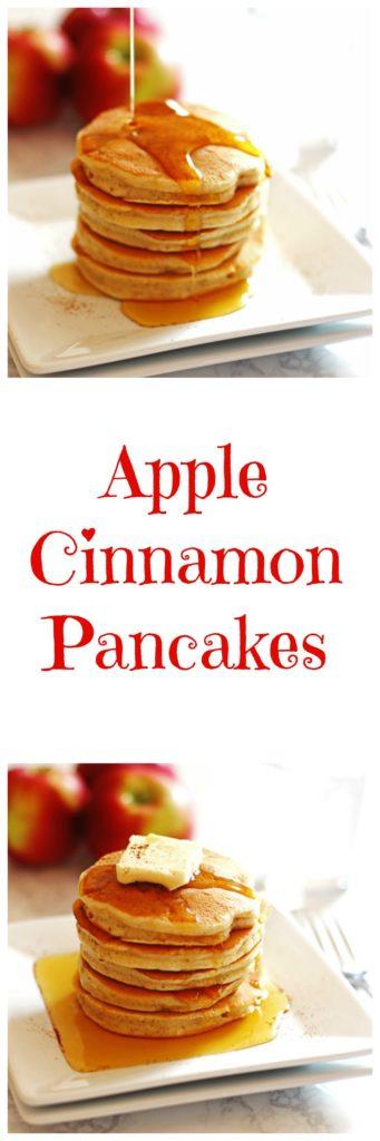 apple, cinnamon, pancakes
